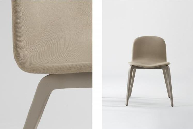 Nouveau chaise et fauteuil design scandinave en tissu for Chaise sans pied