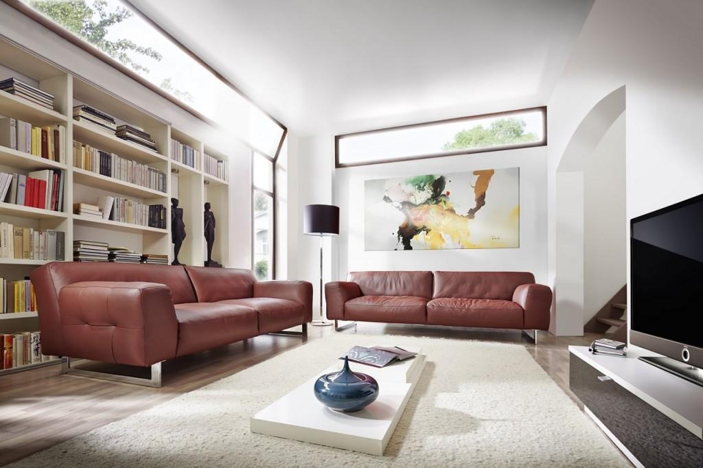 le canape en cuir marron un style indemodable blog de seanroyale. Black Bedroom Furniture Sets. Home Design Ideas
