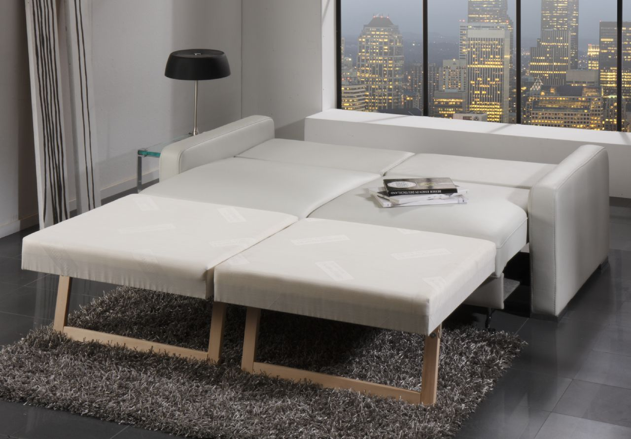 un canape en cuir convertible et pratique blog de. Black Bedroom Furniture Sets. Home Design Ideas
