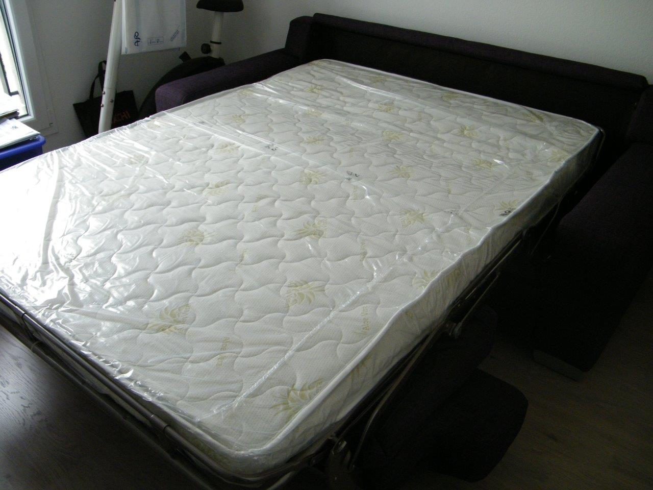 matelas canape convertible 2 5 places neuilly tissu felix. Black Bedroom Furniture Sets. Home Design Ideas