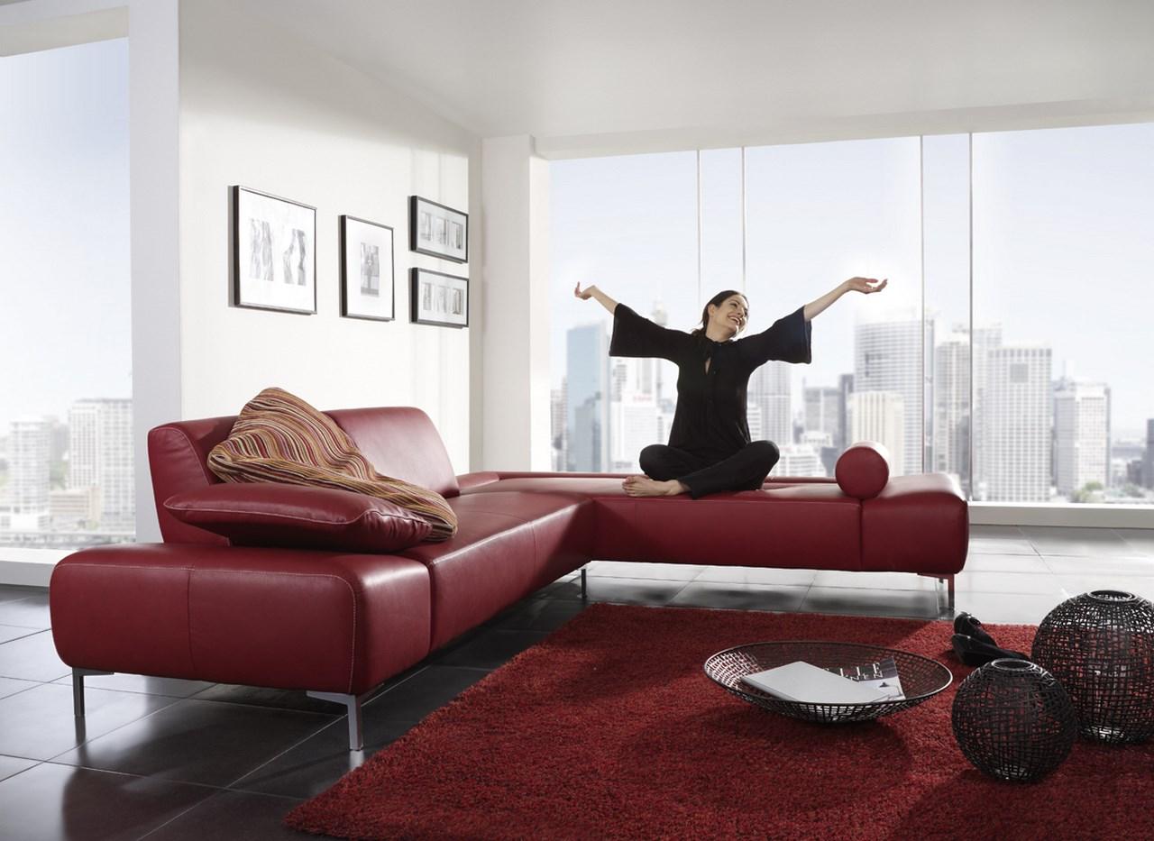 Mettez une touche de creativite dans votre salon avec les - Canape cuir 2 couleurs ...