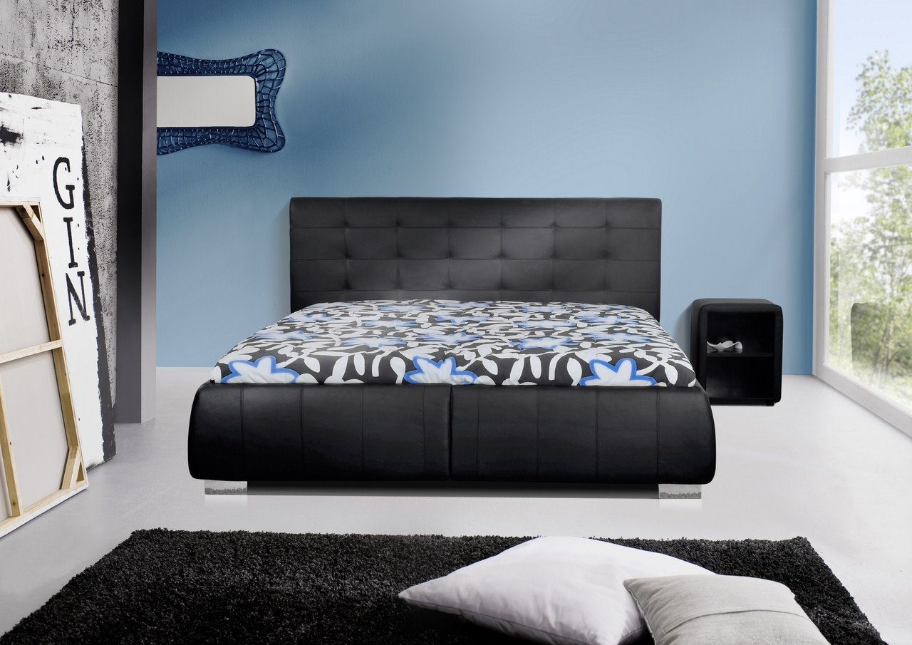 le lit en cuir l alliance du confort et du style blog. Black Bedroom Furniture Sets. Home Design Ideas