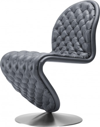 Chaise V. Panton SYSTEM 1-2-3 Deluxe cuir Mas