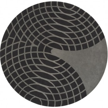 Tapis Verner Panton gris foncé gris clair