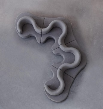 Verpan canapé Cloverleaf modulable en tissu 4 places
