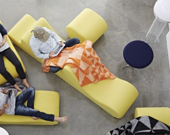 Grand module lounge WELLE 3 en tissu Urban Plus Camira