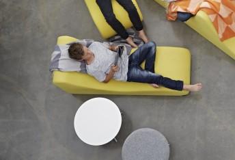 Module chaise longue lounge WELLE 4 en tissu Urban Plus