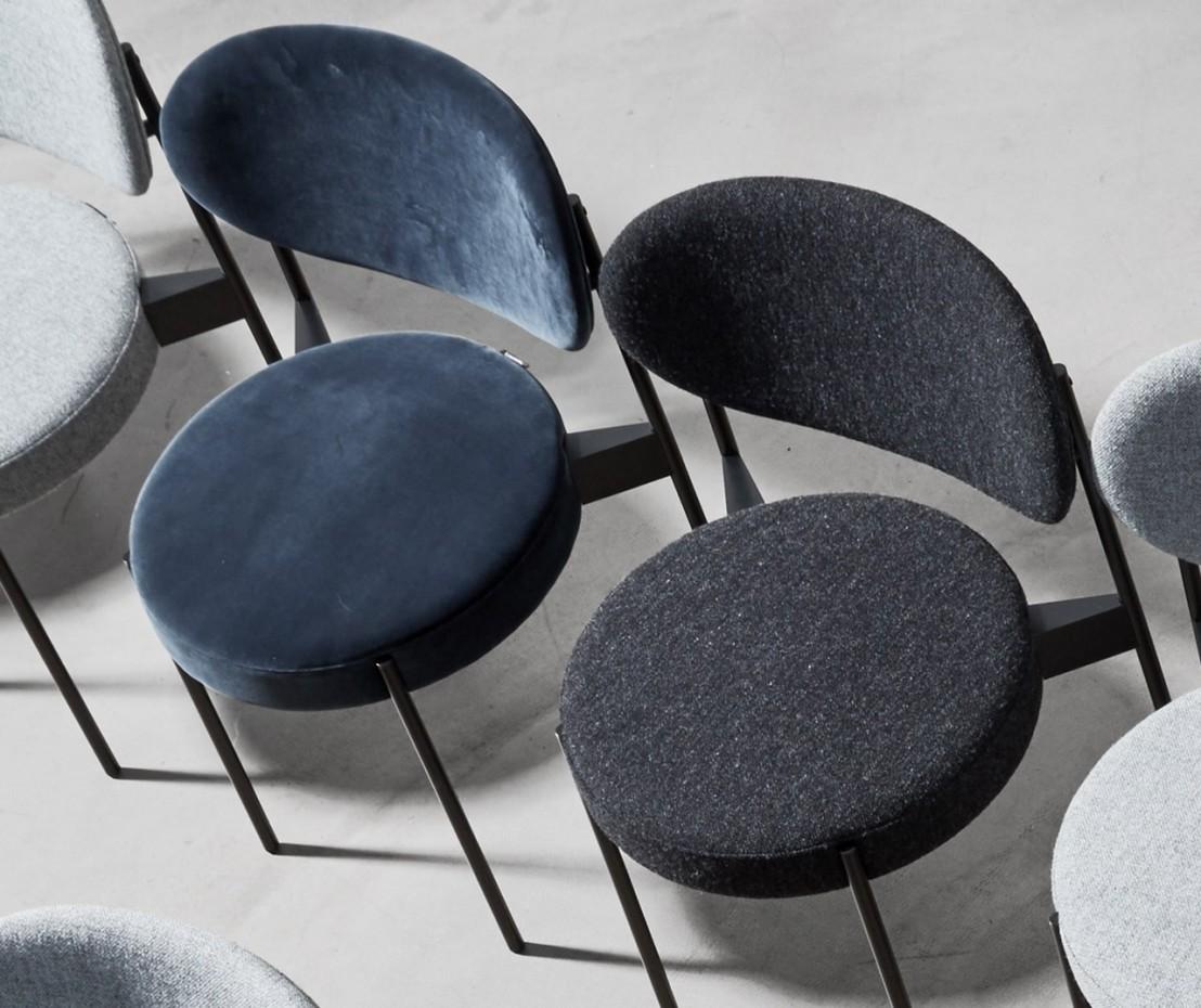 Chaise series 430 verpan panton tissu kvadrat harald 3 for Chaise panton