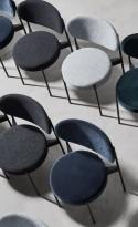 Verpan chaise SERIES 430 en tissus Kvadrat Raf SIMONS Harald 3, design Verner PANTON
