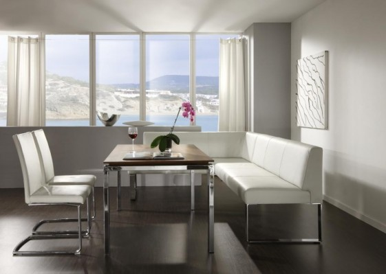 Banquette d'angle cuir SeaSide 200 x 240 cm