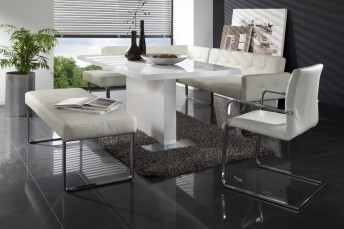 Banquette d'angle cuir DiamondDining design 125 x 269cm