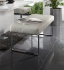 Banc design DiamondDining 170 cm, cuir et chrome