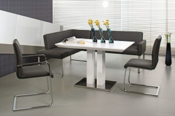 Banquette angle moderne cuir PUREdining 220 x 229 cm
