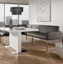 Banquette d'angle design en cuir PUREdining 160 x 229 cm