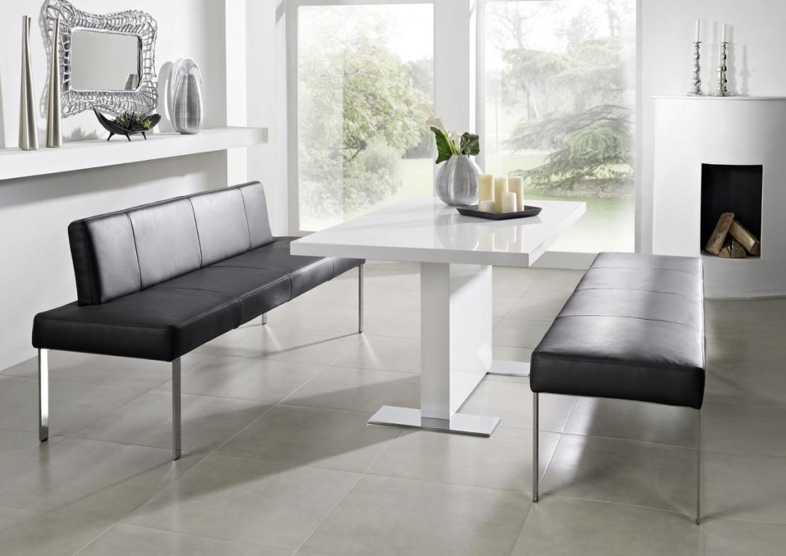 banquette puredining 190 cm design cuir et chrome. Black Bedroom Furniture Sets. Home Design Ideas