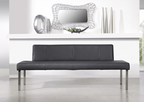 Banquette PUREdining 190 cm design cuir et chrome