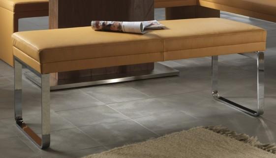 banc dexter 135 cm design en cuir ou tissu. Black Bedroom Furniture Sets. Home Design Ideas