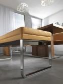 Banc BENNY-JNR 135 cm design en cuir ou tissu
