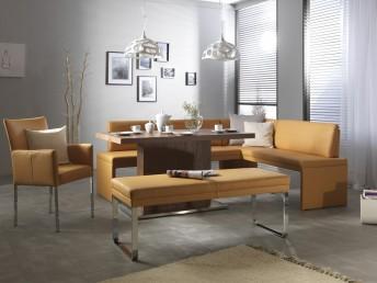 Banquette d'angle DEXTER 227 x 206 cm, cuir ou tissu