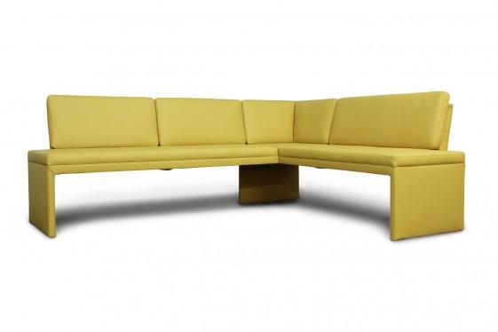 Banquette d'angle minimaliste DEXTER en cuir 187 x 226 cm