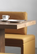DEXTER, banquette d'angle 207 x 246 cm, cuir ou tissu