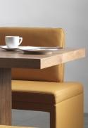 DEXTER, banquette d'angle cuir ou tissu 187 x 266 cm
