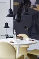 Lampe de table Verpan Pantop noir mat