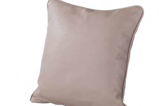 Coussin cuir ou tissu 50 x 50 cm, plumes ou mousse non allergène au choix