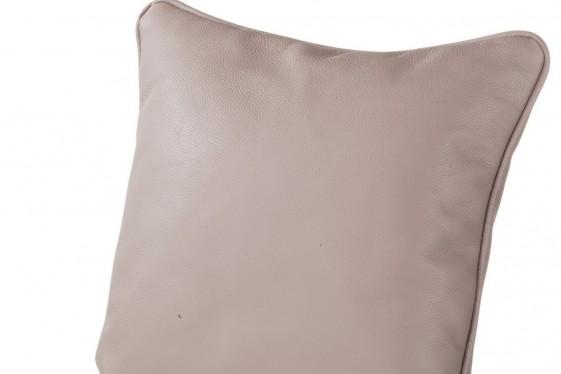 Grand coussin cuir ou tissu carré au choix, plumes ou mousse non allergène 60 x 60 cm