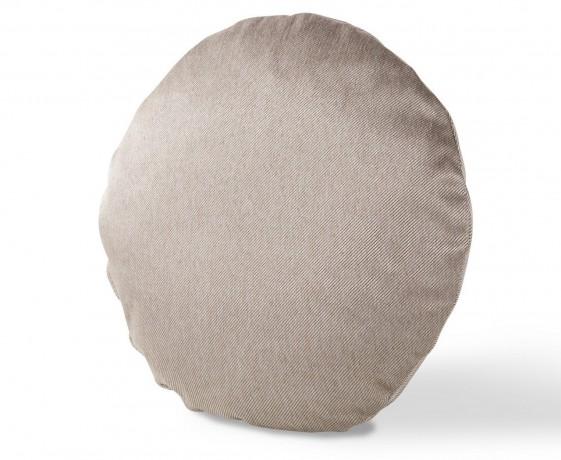 Coussin rond en cuir ou tissu