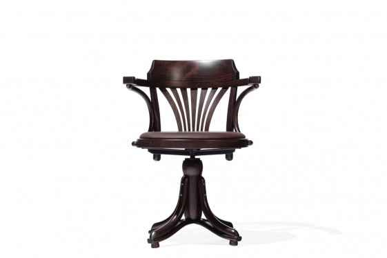 fauteuil pivotant kontor 523 ton en bois assise cuir ou tissu ou cannage. Black Bedroom Furniture Sets. Home Design Ideas