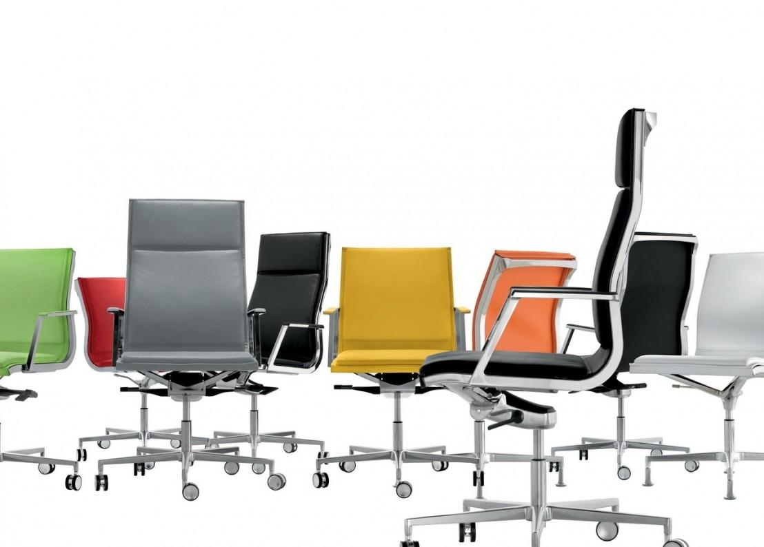 chaise de bureau xecutive nulite cuir pleine fleur pied fixe pivotant. Black Bedroom Furniture Sets. Home Design Ideas