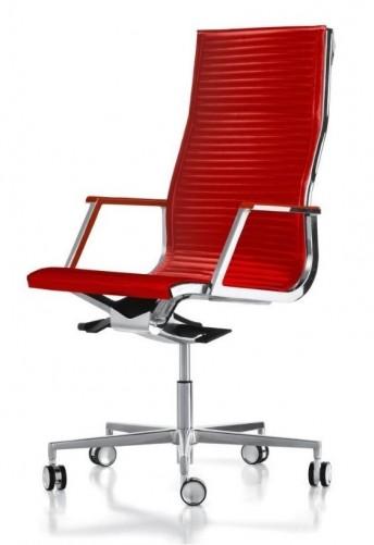 Fauteuil direction design HOWIE-SPECIAL en cuir