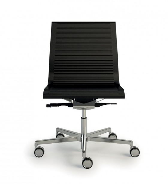 HOWIE-SPECIAL chaise cuir sur roulettes de bureau design