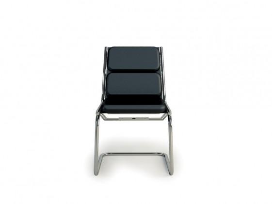 Chaise visiteur LIGHT rembourrée sans accoudoirs en cuir