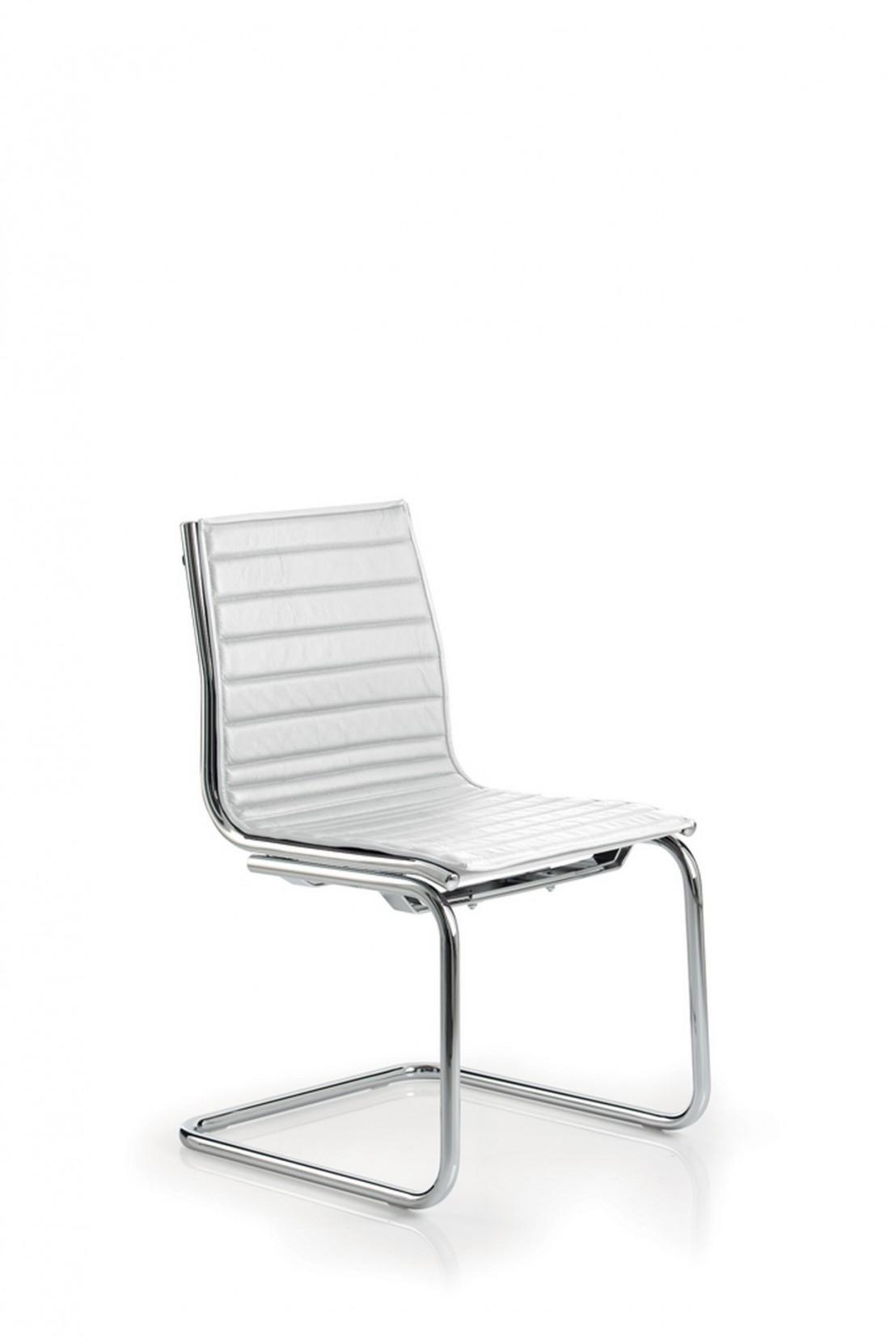chaise light visiteur en cuir sans accoudoir luxy. Black Bedroom Furniture Sets. Home Design Ideas