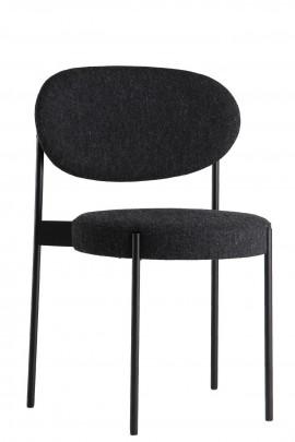 Verpan chaise SERIES 430 en tissus Kvadrat Hallingdal 65 gris chiné ou gris foncé