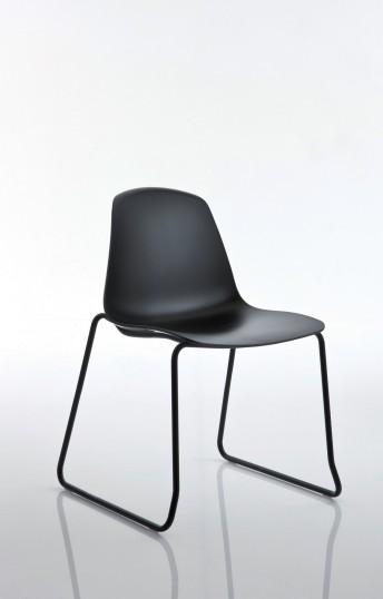 EPOCA chaises X 4 visiteur & réunion coque couleur au choix en polypropylène