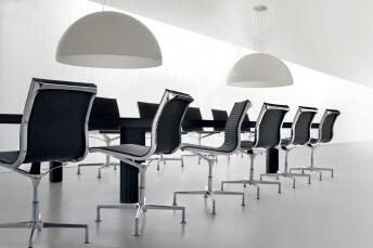 Chaise de bureau pivotant en cuir ou tissu NULITE