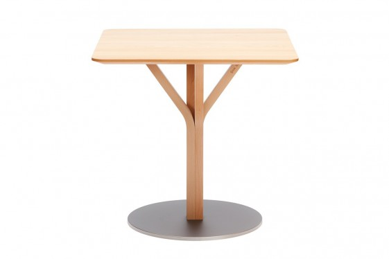 Table carrée BLOOM central 271, 70 X 70 cm en hêtre