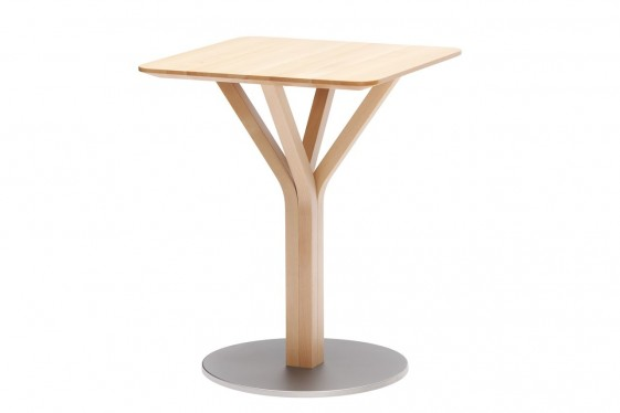 Petite table carrée BLOOM central 274 hêtre, 60 X 60 cm