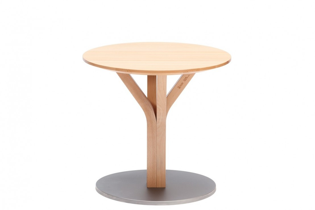 Petite table basse ronde en h tre bloom central 275 ton seanroyale - Petite table basse ronde ...