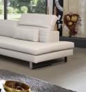 ALLEN-J, canapé d'angle 5 places avec têtières, cuir ou tissu