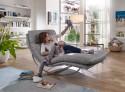 Chaise longue cuir ou tissu SWING-SWING large