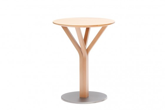 Table BLOOM central 273, TON diamètre 60 cm en chêne