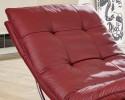 Chaise longue design SWING-SWING en cuir ou tissu