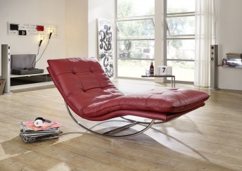 Chaise longue cuir ou tissu design SWING-SWING