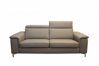 Canapé têtières ajustables cuir ou tissu 3 places KAYLE