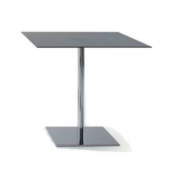 Table carrée INCOLLECTION finition INQUADRO plateau HPL