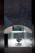 Fauteuil de bureau ITALIA IT2 cuir ou tissu dossier haut